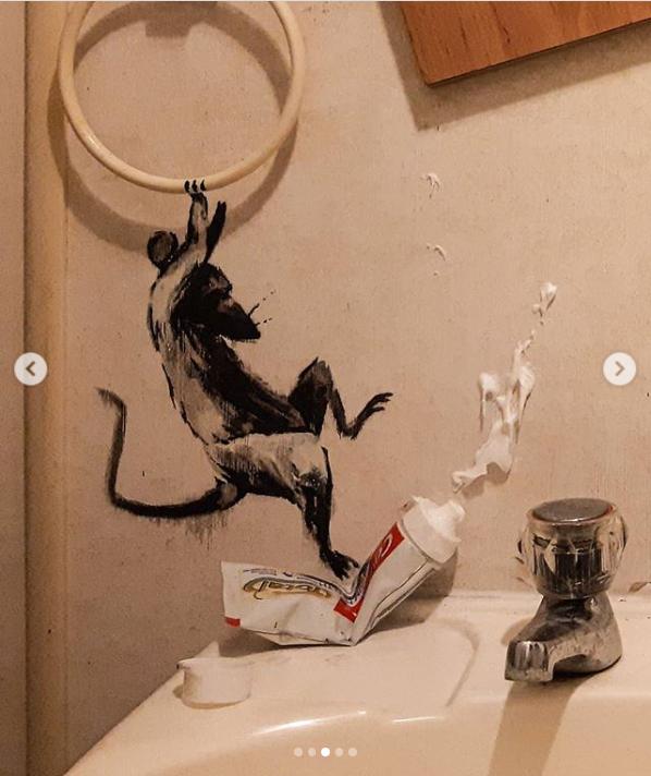 Banksy creates coronavirus lockdown art work in his ...